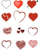 Valentine Hearts. Lots of stylized hearts ideal for Valentine's Day promotions and greeting cards. Valentine's Day, Weddings, Birthdays, Anniversaries, or other Stock Photography