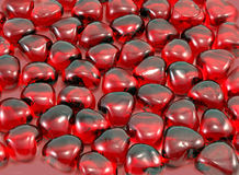Valentine Hearts. Background of glass hearts for Valentine's Day royalty free stock photo