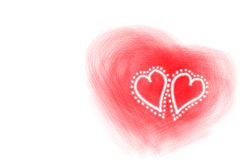 Valentine hearts stock images