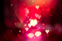Valentine Hearts Abstract Background Stock Fotografie