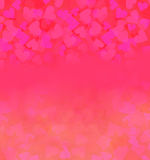 Valentine Hearts Abstract Background Stock Afbeeldingen