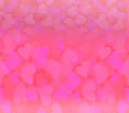 Valentine Hearts Abstract Background Fotografía de archivo