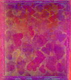 Valentine Hearts Abstract Background Illustrazione Vettoriale