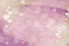 Valentine Hearts Abstract Background. St.Valentine's Day Wallpaper. Heart Holiday Backdrop Stock Photos