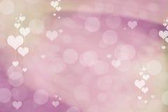 Valentine Hearts Abstract Background StValentines dagtapet Arkivfoton