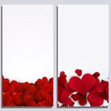 Valentine Hearts Abstract Banners Photographie stock libre de droits