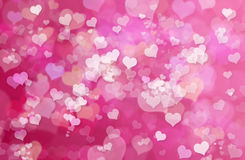 Valentine Hearts Abstract Pink Background: Valentinstag-Tapete Lizenzfreie Stockbilder
