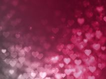 Valentine Hearts Abstract Red Background con bokeh Immagini Stock Libere da Diritti