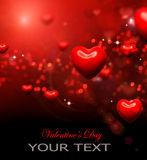 Valentine Hearts Background stock illustration