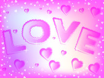 Valentine Hearts Background Imagens de Stock