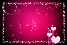Valentine Hearts Background Stock Afbeelding
