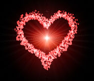 Valentine Hearts Background Stock Afbeeldingen