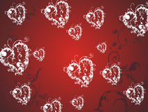 Valentine hearts background Royalty Free Stock Image