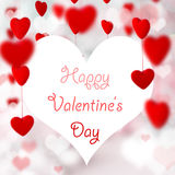 Valentine Hearts Background. Stock Photo