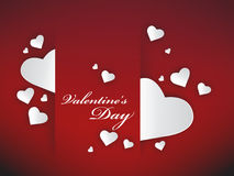 Valentine hearts background Stock Images