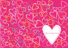 Valentine hearts background Royalty Free Stock Photography