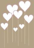 Valentine hearts background Stock Photo