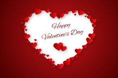 Valentine hearts background Stock Image