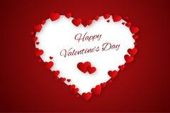 Valentine hearts background Stock Image