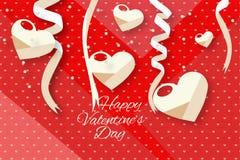 Valentine hearts background Royalty Free Stock Photo