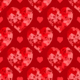 Valentine Hearts Background Low Poly Stock Foto's