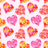 Valentine Hearts Background Low Poly Royalty Free Stock Images