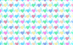 Valentine Hearts Background Pattern royalty illustrazione gratis