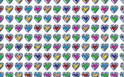 Valentine Hearts Background Pattern Fotografia Stock