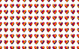 Valentine Hearts Background Pattern Stock Afbeelding