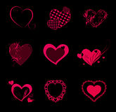 Valentine Hearts Background Stock Photography