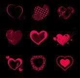 Valentine Hearts Background Stock Photography