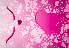 Valentine Hearts Background Royalty Free Stock Photos