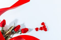 Valentine Hearts Background. Valentines Red Abstract Wallpaper. Backdrop Collage royalty free stock images