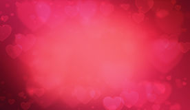 Valentine Hearts Background vermelho macio Fotografia de Stock Royalty Free