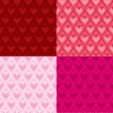 Valentine hearts backgrounds. Vector set of Valentine heart patterns Stock Photo