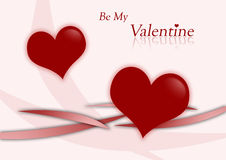 Valentine Hearts - Be My Valentine Royalty Free Stock Photography