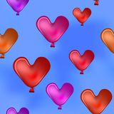 Valentine hearts in the blue sky Stock Images