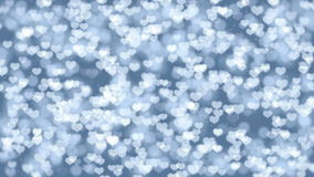 Valentine Hearts Bokeh Looped Animation Background. stock video