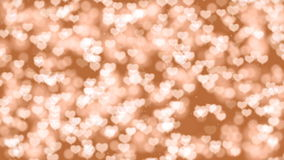 Valentine Hearts Bokeh Looped Animation Background. stock footage