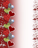 Valentine hearts border Royalty Free Stock Images