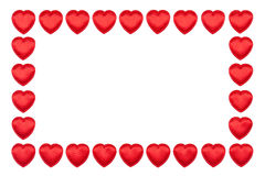 Valentine hearts border Stock Photo