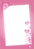 Valentine hearts border Royalty Free Stock Photos