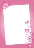 Valentine hearts border royalty free stock photos