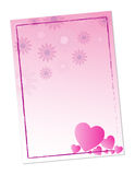 Valentine hearts border stock photo