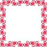 Valentine Hearts Border Royalty Free Stock Photography