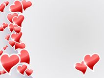 Valentine hearts card Royalty Free Stock Images