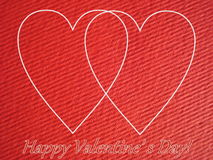 Valentine hearts card Royalty Free Stock Photos