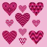 Valentine Hearts Clipart Royalty Free Stock Photo