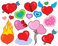 Valentine hearts collection 1. Vector illustration Royalty Free Stock Images