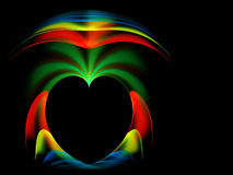 Valentine hearts colorful background Stock Photography